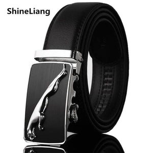 Men Belt Leather Famous brand Designers high quality Luxury Wide3.5CM Metal automatic buckle Waist strap for Hombre male Fashion - Deals Blast