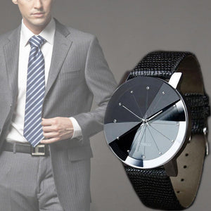 Male Casual Quartz Leather Watch High Quality Stainless Steel