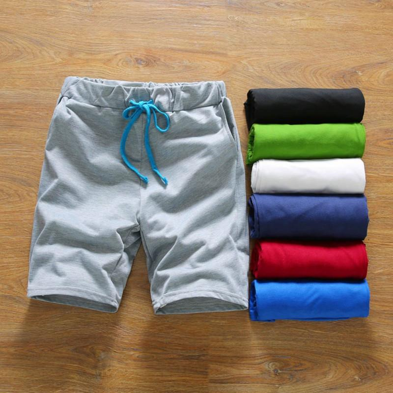 Men Summer Casual Shorts Cotton Style Mens Shorts Beach Black Shorts