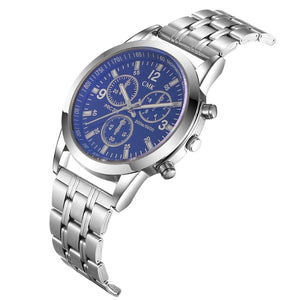 Men's Outdoor Casual Quartz Wristwatch Luxury Steel strip