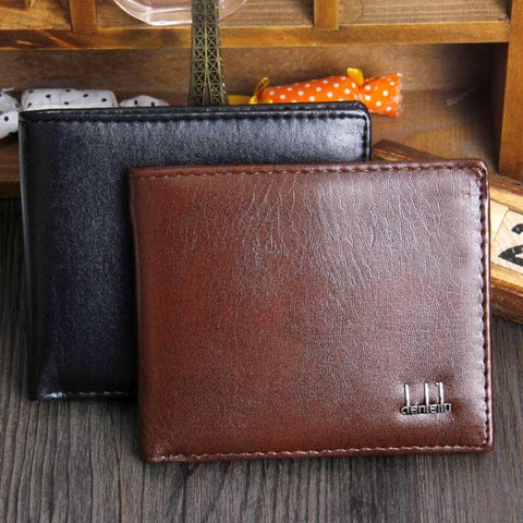 Men wallets dollar price pocket fashion short design men's purse leather wallet