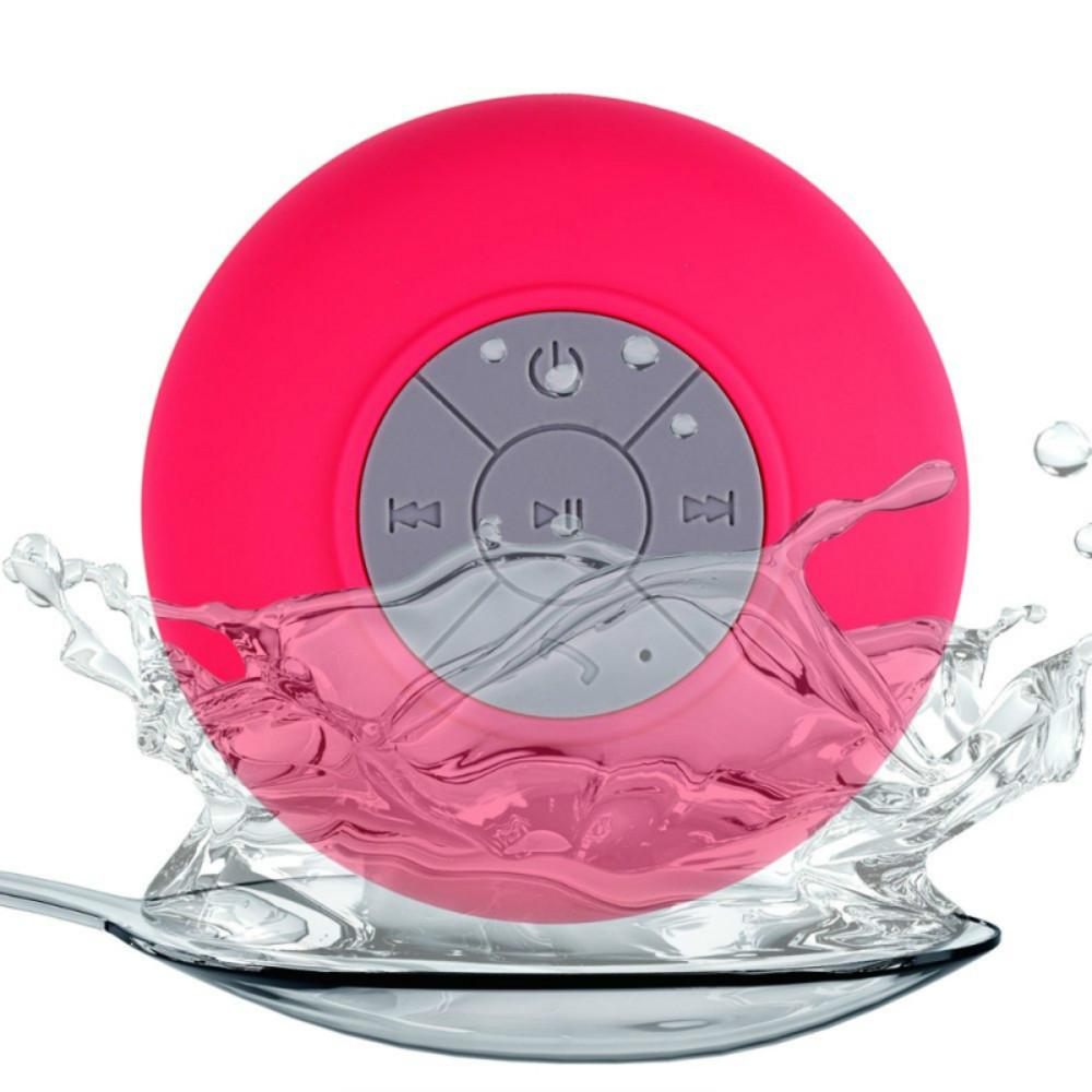 Mini Portable Subwoofer Shower Waterproof Wireless Bluetooth Speaker Car Handsfree Receive Call Music Suction Mic