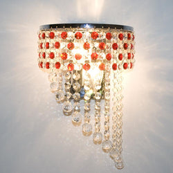 Hanging Red Crystal Wing Shape Bedroom Wall lamp - DealsBlast.com