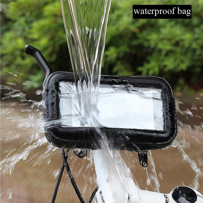 Motorcycle Phone Holder For Samsung Galaxy S7 S6 Edge S8 G530 A5 A7 J5 J3 Support Mobile Bike holder Stand Waterproof Moto Bag