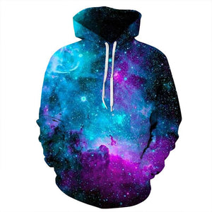 3D Space Galaxy Hoodies Sweatshirts for Men and Women - DealsBlast.com