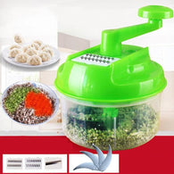 Multifunction Vegetable Cutter Hand Speedy Chopper Spiral Slicer Meat Fruit Shredder Slicer Crusher Grater Kitchen Tools - Deals Blast
