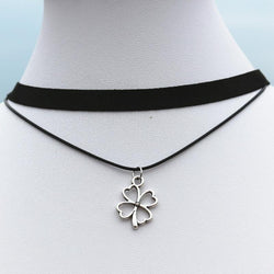 90's Necklaces For Women Black Velvet Flower Choker Handmade