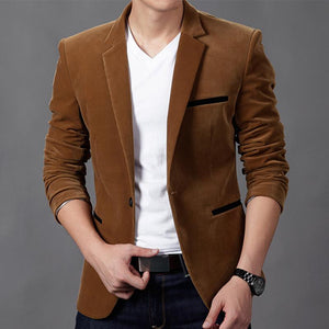 NEW Mens Fashion Brand Blazer British's Style casual Slim Fit suit jacket male Blazers men coat Terno Masculino Plus Size 4XL - DealsBlast.com