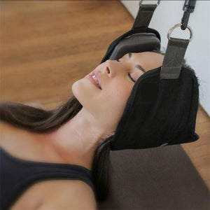 Cervical Traction Device Neck Nerves Pressure Tension Headaches Pain Relief Hammock Posture Alignment Support - DealsBlast.com