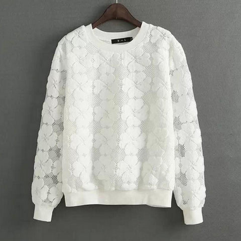 Round Neck Sweatshirt Women