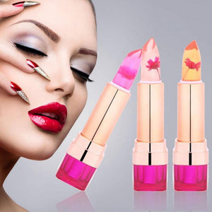 New 3 Colors Jelly Lipstick Temperature Change Color Transparent Long-lasting Waterproof Sweet Moisturizer Flower Pink Lip gloss - Deals Blast