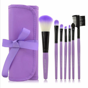 7pcs/Set Makeup Brushes Eyeshadow Powder Eyebrow Eyeliner Make Up Brush Set - Deals Blast