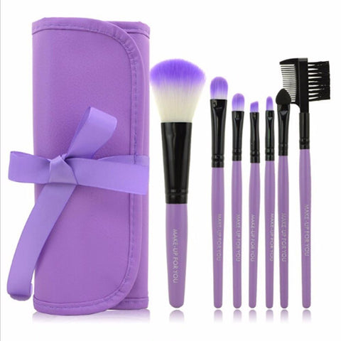 7pcs/Set Makeup Brushes Eyeshadow Powder Eyebrow Eyeliner Make Up Brush Set