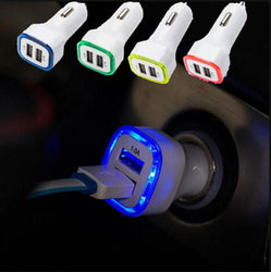 New Arrival 2.1A+1A Dual 2 USB Port LED Car Charger Adapter for Universal Smart Phone Tablet - DealsBlast.com