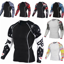 Long Sleeve Running T-shirts Men Sports Clothing Gym Fitness - DealsBlast.com