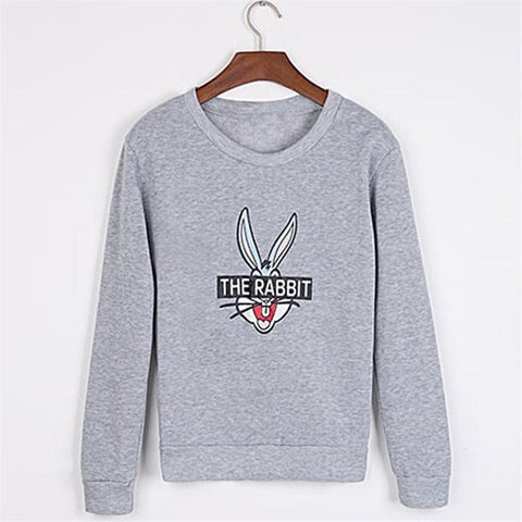 New Autumn Winter Women Fashion Cute Cartoon Bugs Bunny Printed Sweatshirts Loose Casual Female Hoody Coat Hoodies KH982881