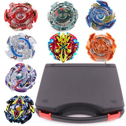 New Beyblade Set 8pcs Beyblades+3 Launchers+1 Handle+1 Plastic Box Spinning - DealsBlast.com