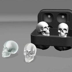 New Design 3D Skull Silicone Ice Mold Cool Whiskey Wine Cocktail Ice Cube Tray Maker Home Kitchen Ice Cram Mould DIY Tools - Deals Blast
