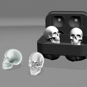 New Design 3D Skull Silicone Ice Mold Cool Whiskey Wine Cocktail Ice Cube Tray Maker Home Kitchen Ice Cram Mould DIY Tools - DealsBlast.com