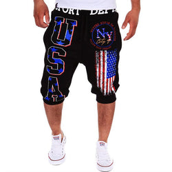 New Fashion Casual Shorts Mens Trousers Elastic Brand Jogger Shorts Men Fitness Short Pants Wear - Deals Blast