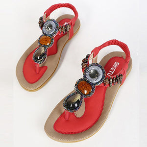 Summer Bohemia Sweet Beach women Ladies Flats Sandals women flip flops
