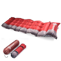 Thicken Self Inflating Sleeping Mat Outdoor Beach Camping Inflatable Mattress Moisture-Proof Pongee Fabric Tent Pad Cushion - DealsBlast.com