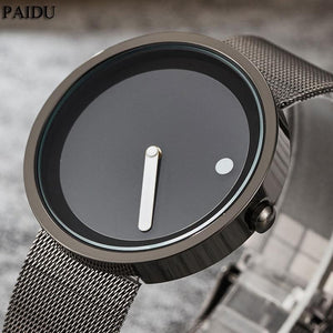 Unique Gift Cool Minimalist Style Wristwatch Stainless Steel