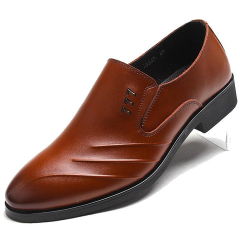 Men business formal dress shoes pointed toe slip-on
