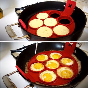 Nonstick Pancake Egg Ring Maker Silicone Kitchen Pancake Mold Egg Cooking Tool - DealsBlast.com