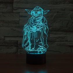 Optical Illusion USB LED 3D Lamp Luminaria Master Yoda Color Change Table Lamp - DealsBlast.com
