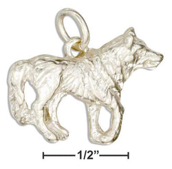 Sterling Silver Wolf Charm - DealsBlast.com