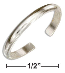 Sterling Silver 2mm Plain Band Toe Ring - DealsBlast.com