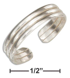 Sterling Silver Triple Band Toe Ring - DealsBlast.com