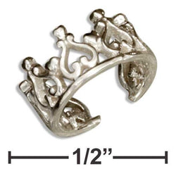 Sterling Silver Crown Ear Cuff - DealsBlast.com