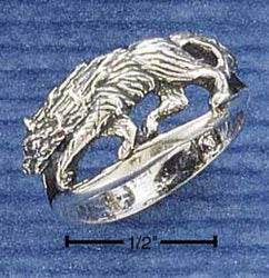 Sterling Silver Wolf Ring - DealsBlast.com