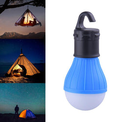 Portable outdoor Hanging 3-LED Camping Lantern,Soft Light LED Camp night Lights Bulb Lamp For Room Camping Tent Fishing 4 Colors - DealsBlast.com