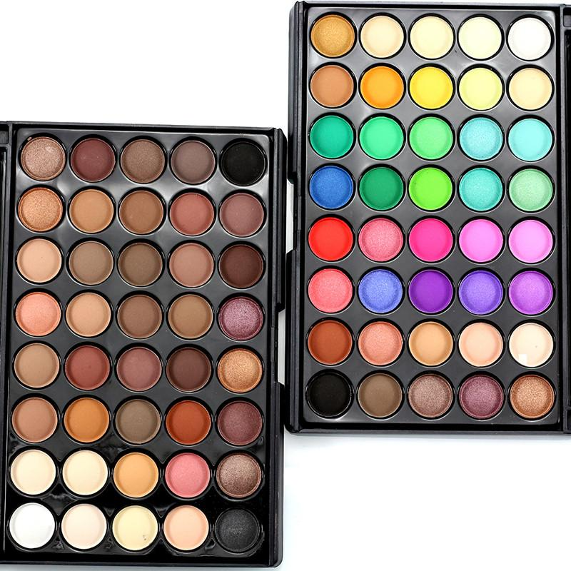 Professional 40 colors Warm Color Pigments Make Up Eye Shadow Glitter Matte Waterproof Makeup Eyeshadow Nude Palette with Brush