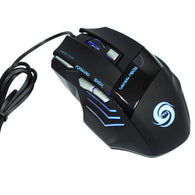 Professional 5500 DPI Gaming Mouse 7 Buttons LED Optical USB Wired Mice for Pro Gamer High Quality - DealsBlast.com