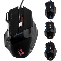 Professional 7 Buttons LED USB Optical Wired Gaming Mouse 5500DPI Mice Computer Mouse For Pro Gamer - DealsBlast.com