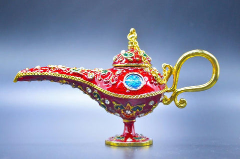 Hot sales New arrive Red aladin lamp decoration crafts,Wedding Decoration,European style metal crafts decorations