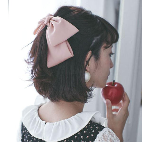 Quality Big Large Beautiful Girls' Silk Bow Barrette Hair Clips Women Hair Accessories