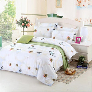 Romantic 3d Flower Printed Bedding Set Floral Bed Linen Pastoral Duvet Cover Pillowcases Floral Bed Sheet 4pcs Twin/Queen Size - Deals Blast