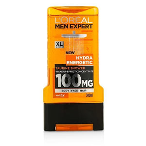 Men Expert Shower Gel - Hydra Energetic (For Body, Face & Hair) - 300ml-10.1oz