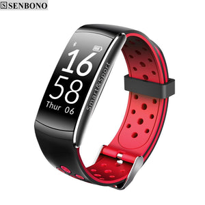 Q8 Bluetooth IP68 Waterproof Smartband Heart Rate Monitor Smart Bracelet Fitness Tracker for Ios Android Phone - DealsBlast.com