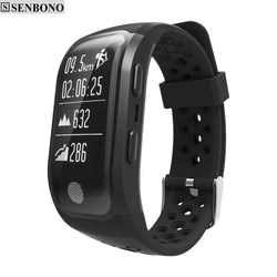 Bluetooth GPS Tracker Wristband  IP68 Waterproof Smart Bracelet  Heart Rate Monitor  Fitness Tracker Smart Band - DealsBlast.com