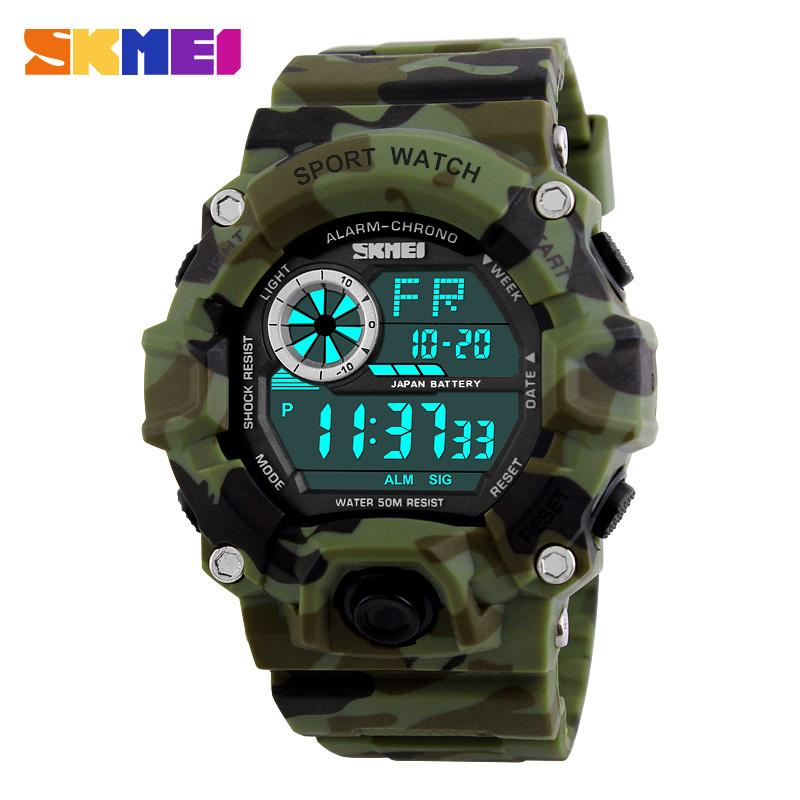 Military Sports Watches Men Alarm 50M Waterproof Watch LED Back Light - DealsBlast.com