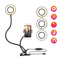 Selfie Cell Phone Mobile Holder Stand with LED Lights