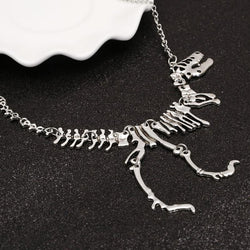 Rex Skeleton Dinosaur Pendant Charm Necklace - DealsBlast.com