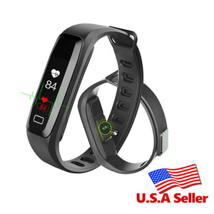 Smart Health Dynamic Heart Rate Blood Pressure Blood Oxygen Monitoring Smart Bracelet Waterproof Fitness Wristband - DealsBlast.com