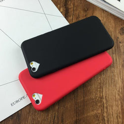 Soft TPU Cover For iPhone 5 5S SE 6 6S 6Plus 6S 7 7+Cases Phone Shell Hot Fashion Candy Color Loving Heart Hole Silicon
